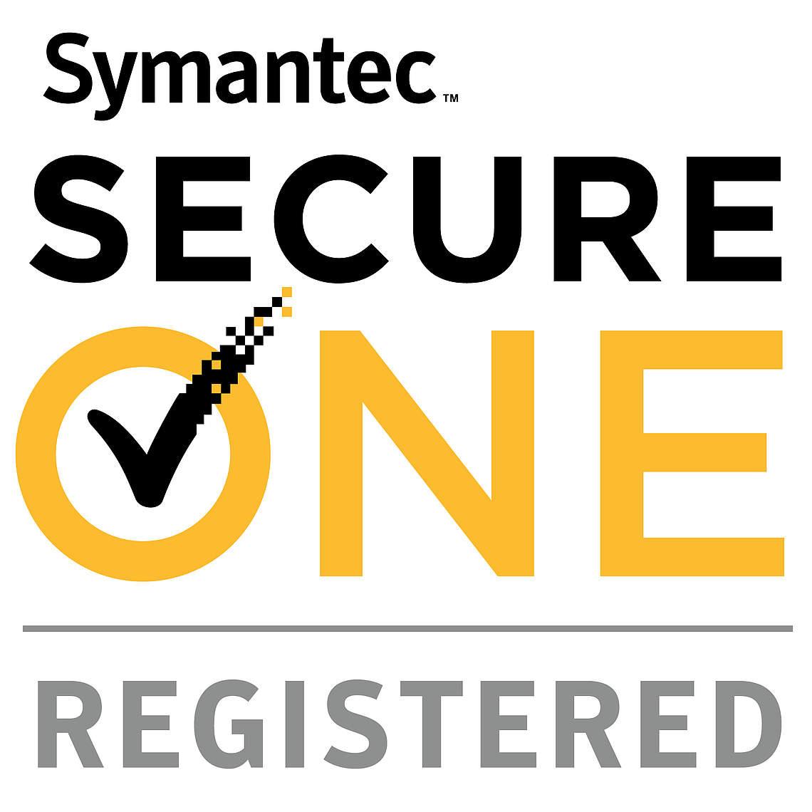 Logo Symantec Secure One Registered Partner - Partnerschaften - LM2 Consulting GmbH