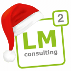 Weihnachts Logo des IT-Consulting-Unternehmens LM² Consulting GmbH